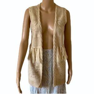 LEE COOPER   Sleeveless cardigan with tassels